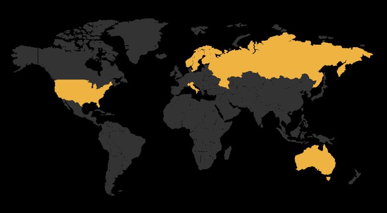 IDCON Alliance partners represented in Europe, North America, Australia, and Asia.